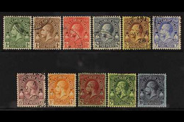 1928 Definitives Complete Set, SG 176/86, Very Fine Cds Used. (11 Stamps) For More Images, Please Visit Http://www.sanda - Turks & Caicos