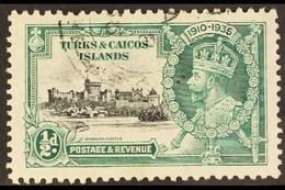 1935 Silver Jubilee ½d Black And Green With KITE AND HORIZONTAL LOG Variety, SG 187l, Very Fine Used. For More Images, P - Turks & Caicos