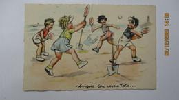 """C.P. Germaine BOURET / """" Soigne Ton Revers Toto """" / C.P.utilisée ( 11 / 09 / 41 ). - Humorous Cards"""