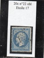 Paris - N° 22 Obl étoile 17 - 1862 Napoleon III