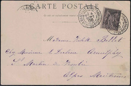 Bouches Du Rhône - Marseille Av. Du Prado - Lettre Pour St Martin De Vésubie (Alpes Maritimes) - 4 Septembre 1900 - 1877-1920: Periodo Semi Moderno