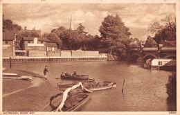 R514316 Weybridge. River Wye. V5305. Photochrom. 1955 - Mundo