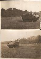 Lot De 2 Photographies De 14-18, Marne, Entrainement Des Chars Schneider CA1 à Saint-Imoges, Groupe AS 11, Juillet 1918 - Guerre, Militaire