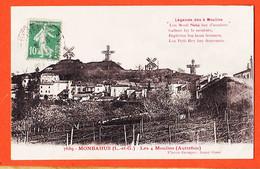 X47139 Peu Commun MONBAHUS (47) Légende Les 4 Quatre MOULINS Autrefois 1922 à BARBE Blagnac-Flacon GEORGES JARNY-GARE - Sonstige Gemeinden