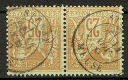 """BELLE OBLITERATION CAD """" STENAY / MEUSE """" De 1880 Sur PAIRE De TIMBRES TYPE SAGE N° 92 OBLITÉRÉS - 1876-1898 Sage (Tipo II)"""