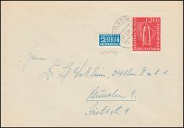 218 Westropa 20 Pf Mit Notopfer-Letzttag Als EF Auf Brief RIMSTING 31.3.1956 - Lettres