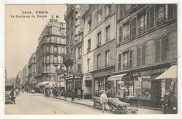 75 - PARIS 10 - Le Faubourg Du Temple - CM 1303 - (Marchande De Cartes Postales) - Arrondissement: 10