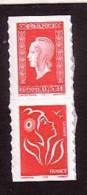 2005-N° P3841**.(3841+3744a) MARIANNE DE DULAC.PAIRE DE CARNET - Nuovi