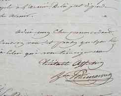 Algérie,  Expédition De 1830, L.A.S. Du Général Baron Poret De Morvan - Handtekening