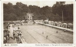 CPA - 72 - MAMERS - Place Carnot - Piscine Des Mouettes - Vue Générale Du Grand Bassin - - Mamers