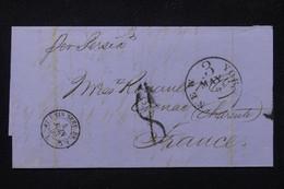 ETATS UNIS - Lettre De New York Pour La France En 1859 Avec Cachet De Ligne Maritime - L 80317 - Cartas