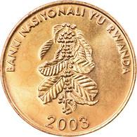 Monnaie, Rwanda, 5 Francs, 2003, SPL, Brass Plated Steel, KM:23 - Rwanda