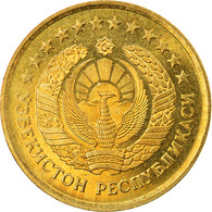 Monnaie, Uzbekistan, 3 Tiyin, 1994, TTB+, Brass Plated Steel, KM:2.2 - Uzbekistan