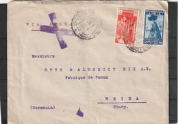 Libya AIRMAIL COVER Via Rome To Weida Germany 1936 - Libya