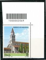 ITALIA / ITALY 2020** - Basilica Di Aquilea - 1 Val. MNH Con Codice A Barre. - Códigos De Barras