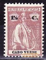 Cabo Verde, 1914 - Tipo Ceres / MNH** - Afinsa 140 - 1 1/2 C. - Isola Di Capo Verde
