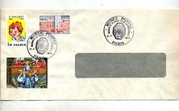 Lettre Cachet Paris Musee Postal 1979  Sur Miniature Poulbot - Gedenkstempels