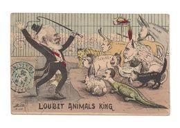 POLITIQUE SATIRIQUE    LOUBET ANIMALS KING -  CARLOS - MUTSUHITO  NICOLAS EDOUARD MOUZAFFER  GUILLAUME PIERRE.ROOSEVELT - Satirical