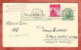 P Jefferson + ZF, New York Nach Saulgau 1946 (851) - 1941-60