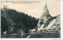Le Vercors. Entrée Des Gorges De La Bourne. Artillerie Alpine En Manoeuvre - Manoeuvres
