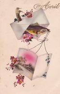 Fête - Voeux : 1er AVRIL : Poisson D' Avril : Poisson Humanisé Portant Un Message : - 1 De April (pescado De Abril)