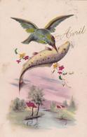 Fête - Voeux : 1er AVRIL : Poisson D' Avril : Oiseaux - Mouette Portant Un Poisson : - 1 De April (pescado De Abril)