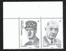 France 2020 - Diptyque - Général De Gaulle ** - Unused Stamps