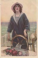 ILLUSTRATEUR - MAUZAN - Femme à La Barre - Mauzan, L.A.