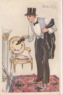 ILLUSTRATEUR - MAUZAN - Homme Retirant Ses Chaussures - Mauzan, L.A.