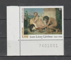 """FRANCE / 2004 / Y&T N° 3660 ** : """"Combat De Coqs"""" (Jean-Louis Gérôme) X 1 CdF Inf G Avec N° De Feuille - Nuovi"""