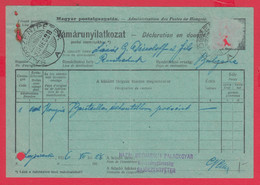 109K46 / Document 1928 Sajószentpéter Declaration En Douane , Stationery Hungary Ungarn Hongrie Ungheria - Postal Stationery