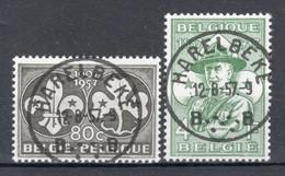BELGIE: COB 1022/1023 Zeer Mooi Gestempeld. - Oblitérés