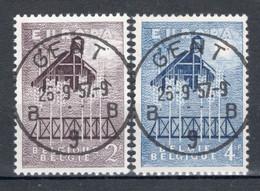 BELGIE: COB 1025/1026 Zeer Mooi Gestempeld. - Oblitérés
