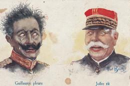 MILITARIA  Patriotique - Guillaume Pleure  Joffre Rit - Patriotic