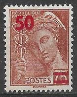 France 1941. Scott #404 (M) Mercury - 1938-42 Mercure