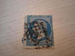 Timbre Napoléon III 20 C - EMPIRE FRANC  N° 22 Oblitéré Numéroté : 3827 - 1862 Napoleon III