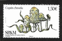 SP & M 2020 -Coprin Chevelu ** - Unused Stamps