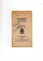 Dax 40 Menu 7 Septembre 1947 Offert Au General De Gaulle Splendid Hotel + Signe Du General Et Yvonne De Gaulle - Menus