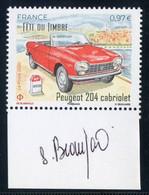 FRANCE 2020 - Fête Du Timbre - Peugeot 204 - Signé Par Sophie Beaujard (la Graveuse) - Unused Stamps