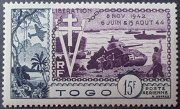 R2062/425 - 1954 - COLONIES FR. - TOGO - POSTE AERIENNE - N°22 NEUF* - Nuovi