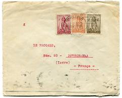 RC 19527 ANGOLA PORTUGAL 1933 AFFRANCHISSEMENT TRICOLOR SUR LETTRE DE LUANDA POUR LA FRANCE ( VOIR DESCRIPTION ) - Angola