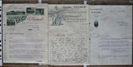 6 Courriers / Documents Commerciaux / Factures CYCLES : Hosotte, Guenot, Faure ... 1907 - 1936 - Trasporti