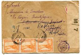 RC 19528 CHYPRE CYRPUS 1944 LETTRE DE LIMASSOL CENSURE POUR LA FRANCE - CENSORED COVER - Cyprus (...-1960)