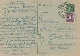 "SBZ - 1945 - Postkarte Mi. P 6 Stegstempel ""Schwerin"" (D322) - Sowjetische Zone (SBZ)"