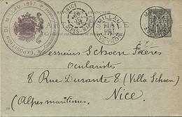 X124596 AVEYRON MILLAU TAMPON SUR CARTE DU COMMISSAIRE DE L' EXPOSITION DE MILLAU DE 1897 PRECURSEUR AVANT 1904 - Millau