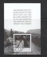 Deutschland BRD  Gestempelt   Block 87  Willy Brandt Kniefall  In Warschau Neuausgabe  3.12.2020 - Blokken