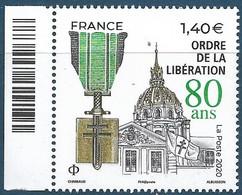 Ordre De La Libération - 80 Ans BDF (2020) Neuf** - Unused Stamps
