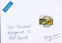 Denmark PRIORITAIRE Label SYDJYLLANDS POSTCENTER 2020 Cover Brief DUERLE Belgium UNESCO Jelling Monuments - Cartas