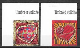 Adhésif YT 72/73 Ou YT 3863/3864 ** - Saint-Valentin - Jean-Louis Scherrer - Sellos Autoadhesivos