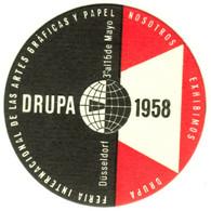 """Düsseldorf 1958 """" DRUPA Fachmesse Druck Und Papier """" Vignette Cinderella Reklamemarke - Cinderellas"""